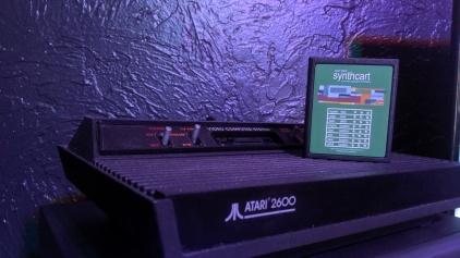 Atari 2600 Darth Vader Edition w/ Synth Cart and 2 KeyPad Controllers